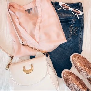 ✨HOST PICK✨Charlotte Russe Soft Blush Pink Blouse✨